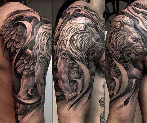 lion tattoos  brave symbology  centuries tattoo