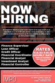 hiring poster templates postermywall