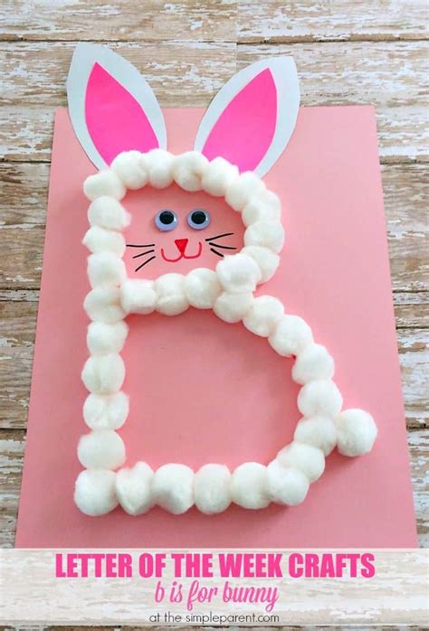 preschool letter b craft b is for bunny great for easter the simple parent