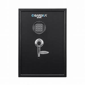 Barska 1 45 Cu  Ft  Safe With Electronic Keypad Lock Black