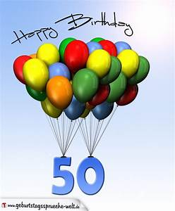 Geburtstagsbilder Zum 50 : geburtstagskarte mit luftballons zum 50 geburtstag geburtstagsspr che welt ~ Eleganceandgraceweddings.com Haus und Dekorationen