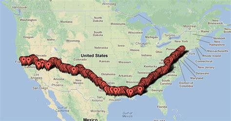 Map Hands Across America Theme