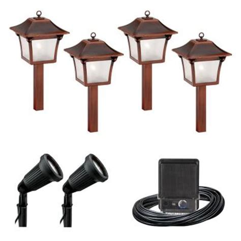 malibu 6 light outdoor black and tarnished copper colonial