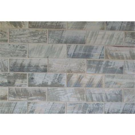 home depot rustic wood look tile rustix woodbrix 3 in x 8 in distressed hemlock wooden