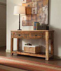 Console Tables: Reclaimed Wood Console Table COA-950364/7