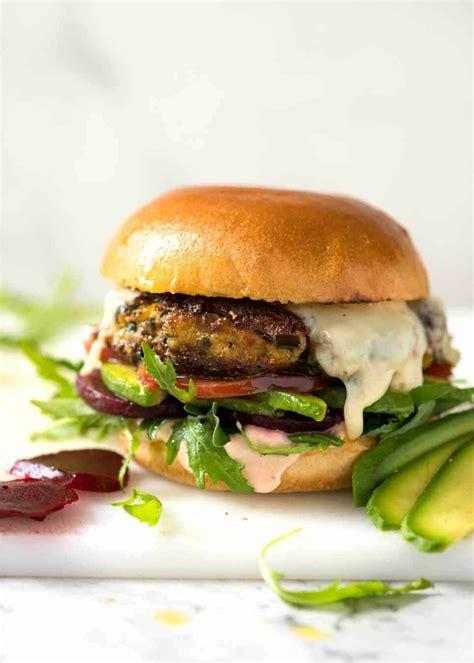 garden burger recipe veggie burgers recipetin eats