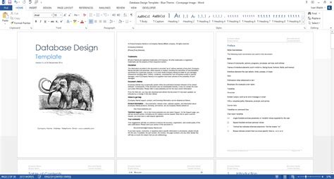 Software Design Documentation Template by Database Design Document Ms Word Template Ms Excel Data
