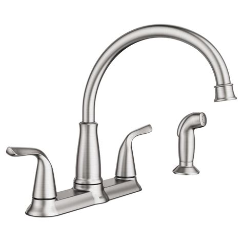 Moen Kitchen Faucet by Moen Brecklyn 2 Handle Standard Kitchen Faucet With Side