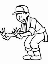 Farmer Coloring Pages Farmers Gardener Dell Drawing Cartoon Cliparts Farm Clipart Print Tools Library Colouring Clip Printable Coloringpagebook Getdrawings Coloringpages101 sketch template