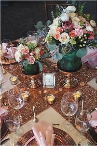 Teal Wedding Colors Centerpiece