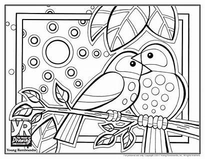 Coloring Birds Pages Heart Sheet Still Lovebirds