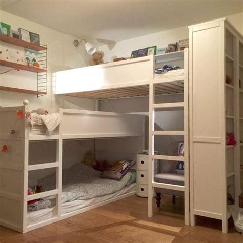 chambre 3 enfants transformer le lit ikea kura 15 idées ikea hacks