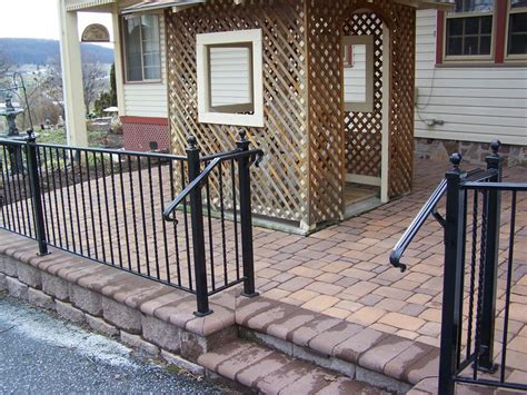 patio w wrought iron railing from willow gates