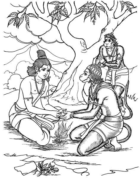 Coloring pages/images for Ramayana story | Bal Vihar in 2019 | Ramayana story, Jai hanuman, Hanuman