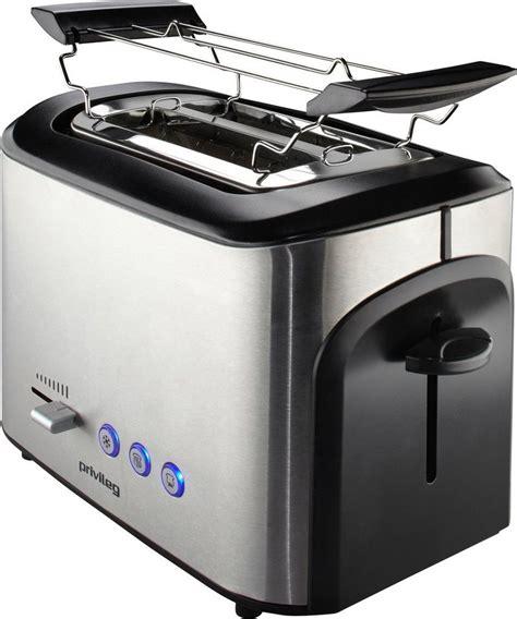toaster mit integriertem brötchenaufsatz privileg toaster in edelstahl f 252 r 2 scheiben 800 w mit br 246 tchenaufsatz kaufen otto