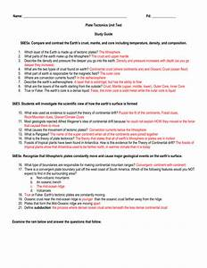 Name  Pd  Plate Tectonics Unit Test Study Guide S6e5a  Compare
