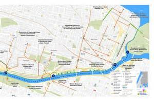 New York Harlem and Bronx River Map