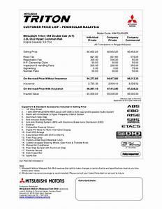 Mitsubishi Triton 2 5 All Variants
