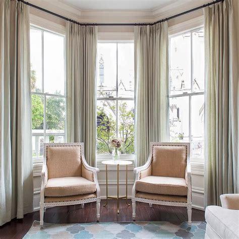 how to drape a bay window best 25 bay window curtains ideas on bay