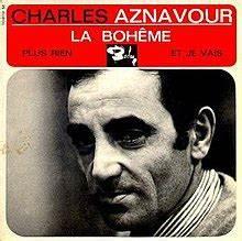 English Language Charts La Bohème Charles Aznavour Song Wikipedia