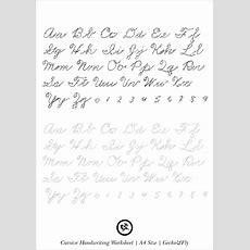 5 Printable Cursive Handwriting Worksheets For Beautiful Penmanship