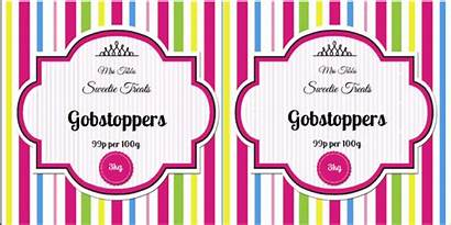 Jar Labels Sweet Template Label Candy Templates