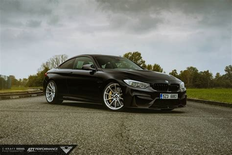 bmw supercar black black bmw m4 on mercury silver vorsteiner wheels gtspirit
