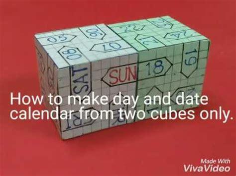 diy perpetual day date display calendar cubes youtube