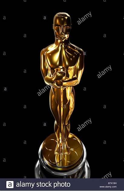 Oscar Background Statuette Close Against Alamy