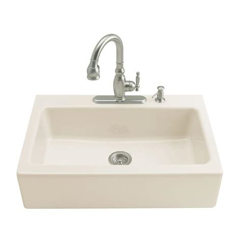 kohler kitchen sinks kohler dickinson tile in farmhouse apron front cast iron