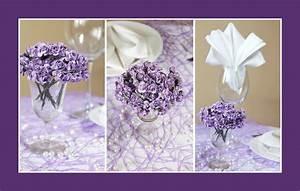 Deko Für Hochzeitstisch : deko ideen tischdeko lila ~ Markanthonyermac.com Haus und Dekorationen