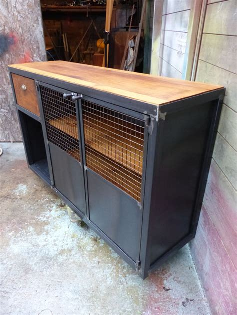 cr 233 ation meuble fabrication sur mesure meuble bois m 233 tal industriel tendance