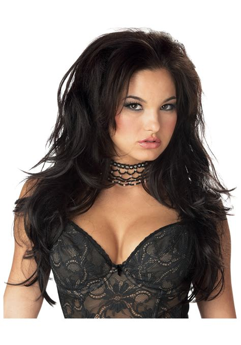 Brunette Vixen Wig Sexy Womens Brown Pirate Vampire Wig