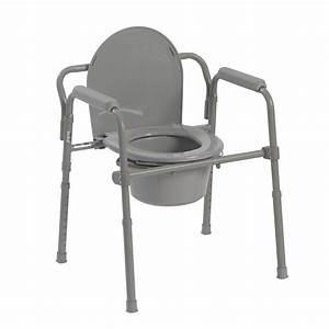 Drive Medical Folding Steel Bedside Commode