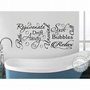 bathroom wall sticker montage word art collage vinyl decor With bathroom vinyl lettering wall art