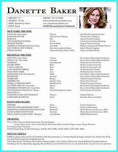 simply acting resume template with headshot actor resume With headshot resume template