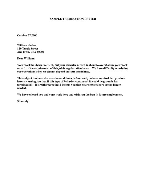 termination letter template termination letter fotolip rich image and wallpaper 75994