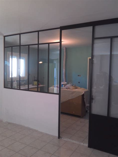 porte coulissante cuisine verrière moderne fer forgé de cuisine avec porte
