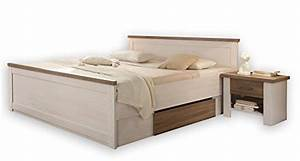 Bett Mit Komforthöhe : bett doppelbett bettanlage mit nachtkommoden pinie weiss luca komforthoehe 180 x 200 cm m bel24 ~ Markanthonyermac.com Haus und Dekorationen
