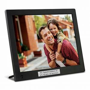 Engraved 12quot digital photo frame for Engraved digital photo frame
