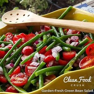 garden fresh green bean salad clean food crush