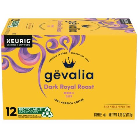 We use the perfect care for the perfect cup so you can savor the combination of rich espresso coffee and creamy froth. King Soopers - Gevalia Dark Royal Roast Coffee K-Cup Pods, 12 ct