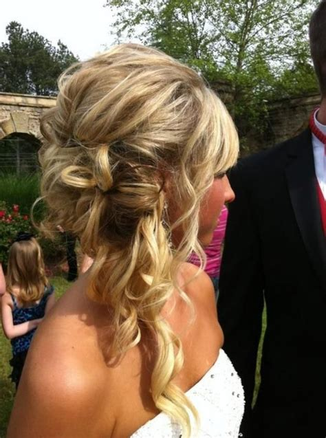 hair pinned up to the side for a prom hair updo prom hair