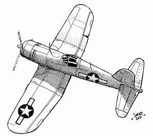 Ww2 Fighter Plane Coloring Pages Aero Drawings Plane