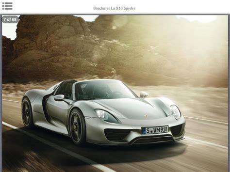 Porsche 918 Spyder Brochure Leaked