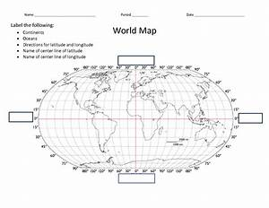 12 Best Images of Lines Of Latitude Worksheet - World Map ...