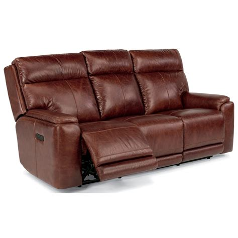 power reclining sofa with usb ports flexsteel latitudes sienna power reclining sofa with