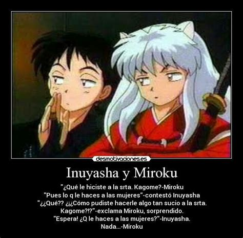 inuyasha y miroku hablando anime amino