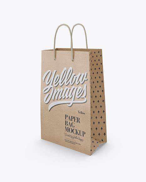 Shopping bags offer a great opportunity to show off your brand. Free Mockups Kraft Bag Mockup - Half Side View Object ...