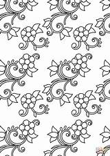 Coloring Pattern Floral Pages Printable Dot Paper Drawing Adults Categories sketch template